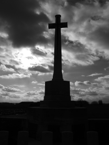 Cross of Sacrifice at Canada Farm Cemetery, Ypres