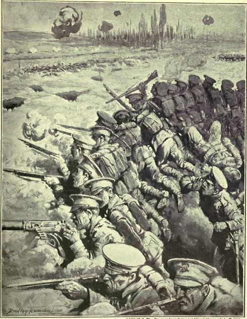 An artist's impression of the fighting at Hill 60 [The War Illustrated]