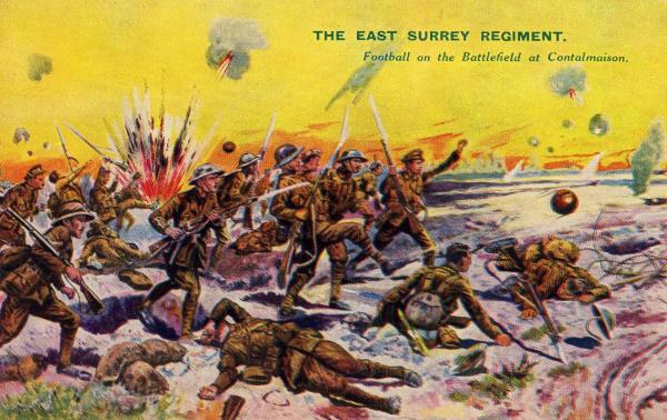 The 8th East Surreys advance